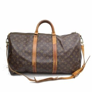 Auth Louis Vuitton Keepall 50 Bag 194LTR317